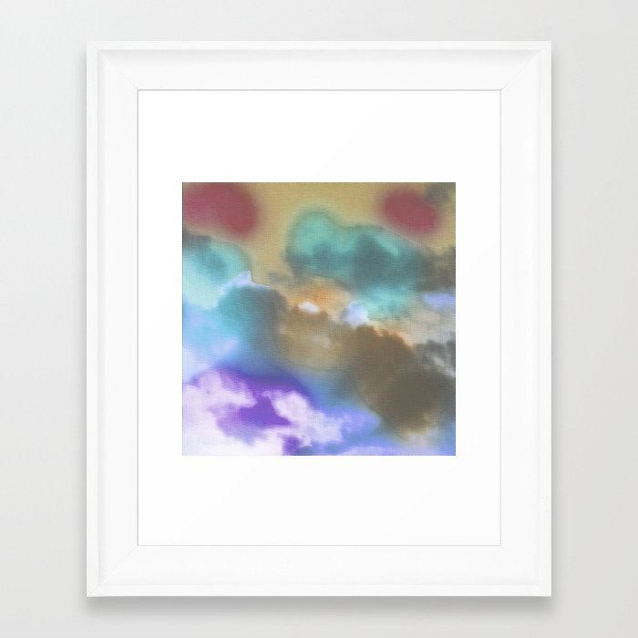 Wall Art Pastel Colours : Water color pastel clouds framed art print by wendy
