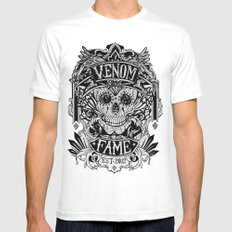 Venom Fame crest Mens Fitted Tee White SMALL