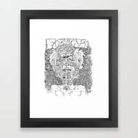 Fuck It All Framed Art Print
