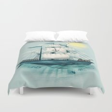The Whaleship Duvet Cover