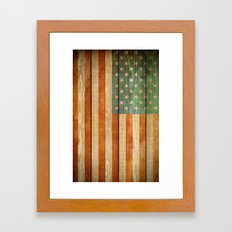 American Flag Framed Art Print