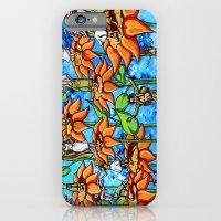 sunflower sock hop iPhone 6 Slim Case