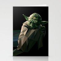 Geometric Yoda Stationery Cards