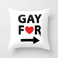 Gay For This Guy Throw Pillow