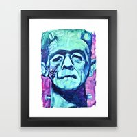 Frankenstein Halloween Zombie Framed Art Print