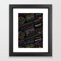 Ness Control Pattern Framed Art Print