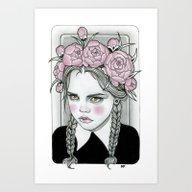 Art Print featuring Wednesday Addams  by Rose Ellen Swenson