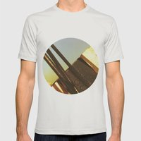 out out Mens Fitted Tee Silver SMALL