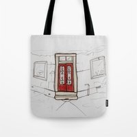Red Doors  Tote Bag