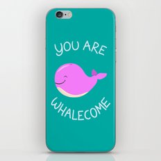 Whale, thank you! -Pink Version iPhone & iPod Skin