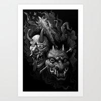Demon Duel Art Print