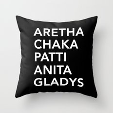 Roll Call (Queens of Soul) Throw Pillow
