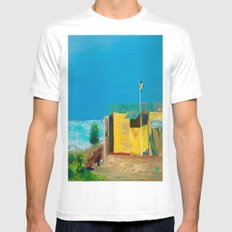 Jamaica. Jamaican Blues Mens Fitted Tee White SMALL