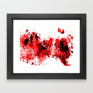 Liquid Red Framed Art Print