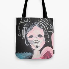 Gato Head Tote Bag