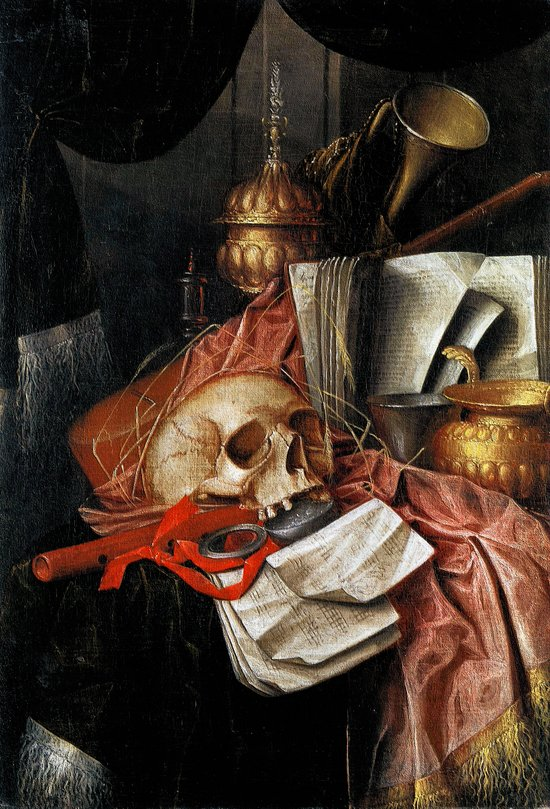 Vintage Vanitas - Still Life with skull 2 Art Print