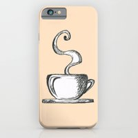 iPhone & iPod Case featuring Cups Of Coffee by Fatimah khayyat