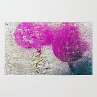 Magenta rounded drips Rug