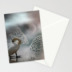 under the YinYang-Moon Stationery Cards