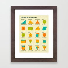 GEOMETRIC FORMULAS Framed Art Print
