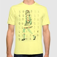 Sliced Mens Fitted Tee Lemon SMALL