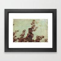 Faded Blossoms Framed Art Print