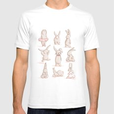 Cute Bunnies, Playing Dress Up, Pink, Disguise White Mens Fitted Tee SMALL