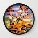 Glitch Pin-Up: Xena Wall Clock