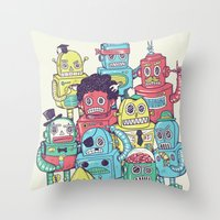 Robot's Can't Smile Throw Pillow