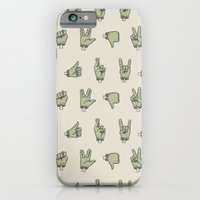 iPhone Cases featuring Zombie Hands by Deniart