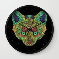 Intergalactic Fox Wall Clock