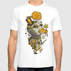 A Disorientated Duck Goes For A Stroll Mens Fitted Tee SMALL White