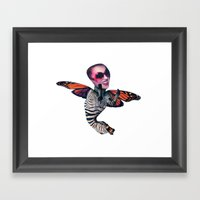 ZEBRA FLY Framed Art Print