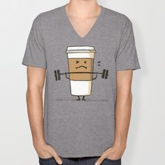 Strong Coffee Unisex V-Neck