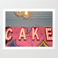 Cake ~ Pop Carnival Sign… Art Print