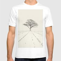 Winter Field Mens Fitted Tee White SMALL