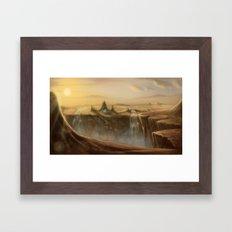 Canion Village Fantasy Landscape Framed Art Print
