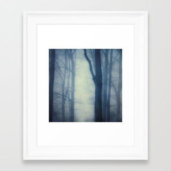 waning lines Framed Art Print