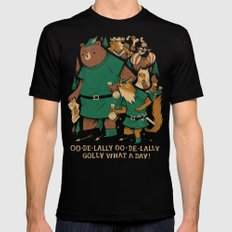 oo-de-lally (brown version) Mens Fitted Tee Black SMALL