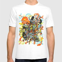 Triefloris Mens Fitted Tee White SMALL