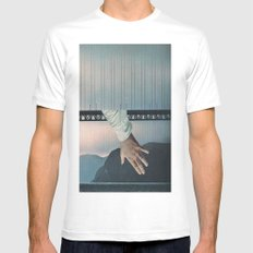 Under the Bridge SMALL White Mens Fitted Tee