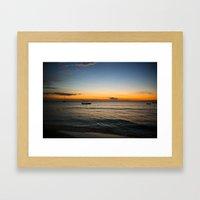 Negril Sunset 001 Framed Art Print