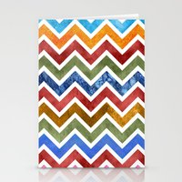 Chevrons in Color Stationery Cards