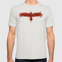 blood eagle Mens Fitted Tee Silver SMALL