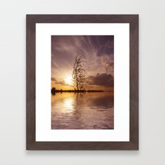 Digital sunsets  Framed Art Print