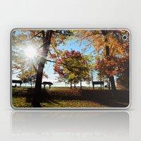 Autumnal sunshine Laptop & iPad Skin