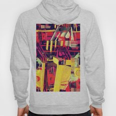 Industrial Abstract Red Hoody