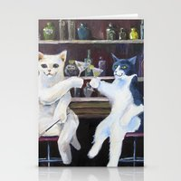 Social Cats  Stationery Cards