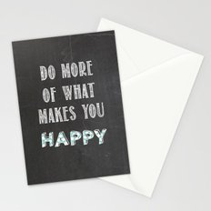 Quote, inspiration chalk board  Stationery Cards