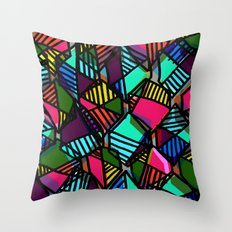 Overlaid Hexagons Throw Pillow